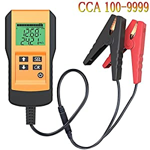 Battery Tester for Automotive Digital 12V Car Battery Load Test and Analyzer with Digital Readout (CCA Value For Flood, Gel, AGM, Deep Cycle Battery)