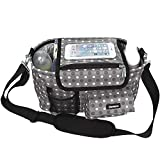 Damero Universal Baby Stroller Organizer, Baby Diaper Storage Bag, Travel Bag with Shoulder & Stroller Strap, Spacious Space for Baby Care Accessories, Great for Baby Shower Gift - New Version