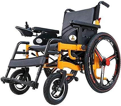 Yuzhonghua La Silla de Ruedas Plegable con Personas de Edad Avanzada con discapacidad de polímero de Litio (Derecha Controller)