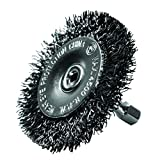 Century Drill and Tool 76411 Coarse Drill Radial Wire Brush, 2-Inch