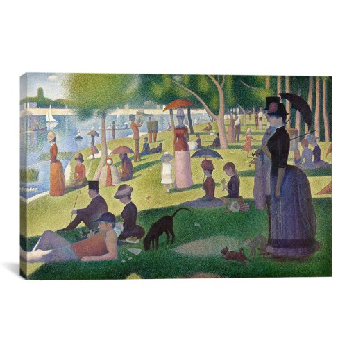 iCanvasART Sunday Afternoon on The Island of La Grande Jatte by Georges Seurat Canvas Art Print, 26 by 18-Inch - Sunday Afternoon On The Island La Grande Jatte