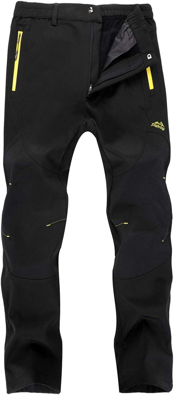Singbring Womens Outdoor Fleece Lined Windproof Hiking Pants Waterproof Ski Pants