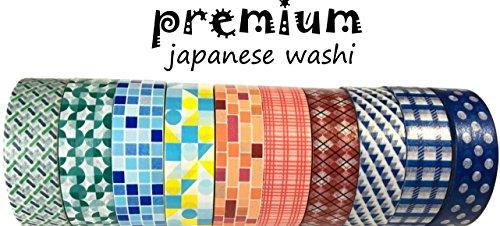 Washi Tape by L'artisant - Premium Quality Set of 10 Amazing Rolls.(Wallpaper)