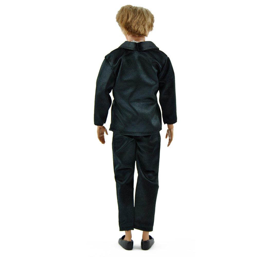 Amazon.com: E-TING Moda esmoquin traje negro chamarra formal ...