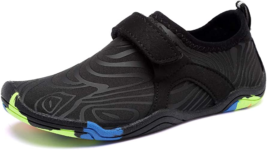 Boys /& Girls Water shoes Light Weight Comfort Sole Easy Walking Athletic Slip On