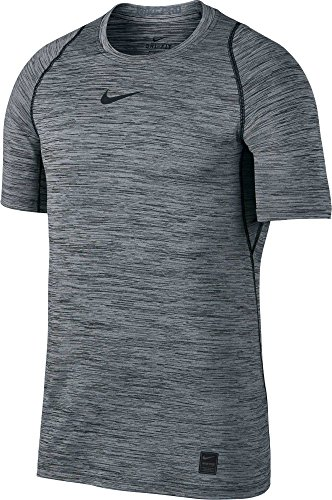 Nike Men's Pro Heather Printed Fitted T-Shirt (Black/Cool Grey/Black L)❗️Ships Directly from