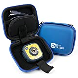 Premium Quality Blue Hard EVA Shell Case with Carabiner Clip & Twin Zips - Compatible with the vTech Kidizoom Action Cam - by DURAGADGET