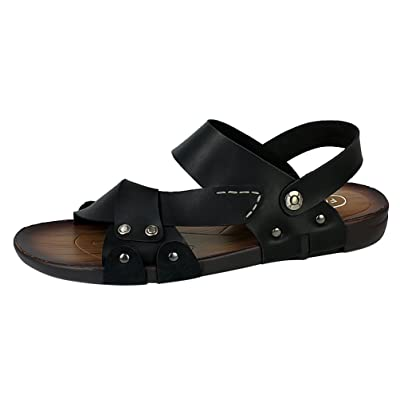 Abby 1268 Mens Fashionable Sandals Leather Athletic Casual Comfy Beach Breathablels