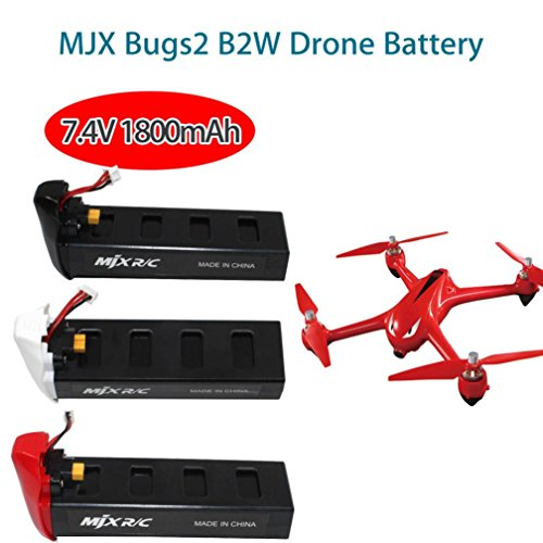 Durable 7.4V 1800mAh High Capacity Lipo Battery for MJX Bugs 2C/2W RC Quadcopter