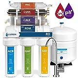 Express agua roalkuv10 m 11 fase UV ultravioleta + alcalinas + casa sistema de filtrado de agua potable de ósmosis inversa 100 GPD RO filtro de membrana – moderno grifo, sin BPA