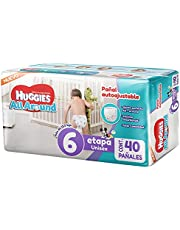 Huggies All Around Pañal Desechable para Bebé, Etapa 6 Unisex, Paquete con 40 piezas, Ideal para bebés de más de 13.5 kg, empaque puede variar