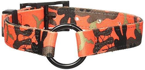 Hunting camo collars Bravo Camouflage 2-Ply Nylon Dog Collars, 1 x 21-Inch, Orange