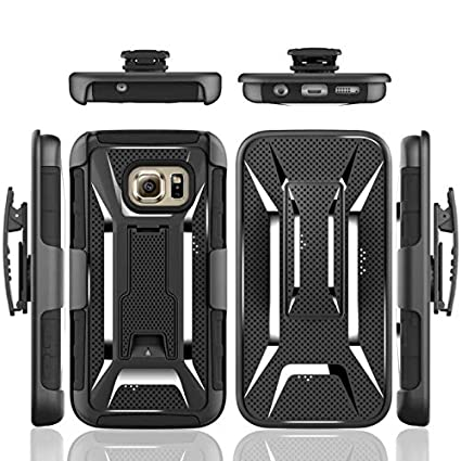 new products 56918 16ecd Amazon.com: Galaxy S7 Case, PT [Heavy Duty] Dual Layer Armor Hybrid ...