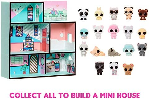 L.O.L. Surprise! Minis with 5+ Surprises - Fuzzy Tiny Animals, Collect to Build a Tiny House (3 Pack)