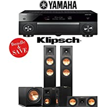 Yamaha AVENTAGE RX-A1070BL 7.2-Ch 4K Network AV Receiver + Klipsch RP-250F + Klipsch RP-250C + Klipsch RP-240S + Klipsch R-112SW - 5.1-Ch Home Theater Package