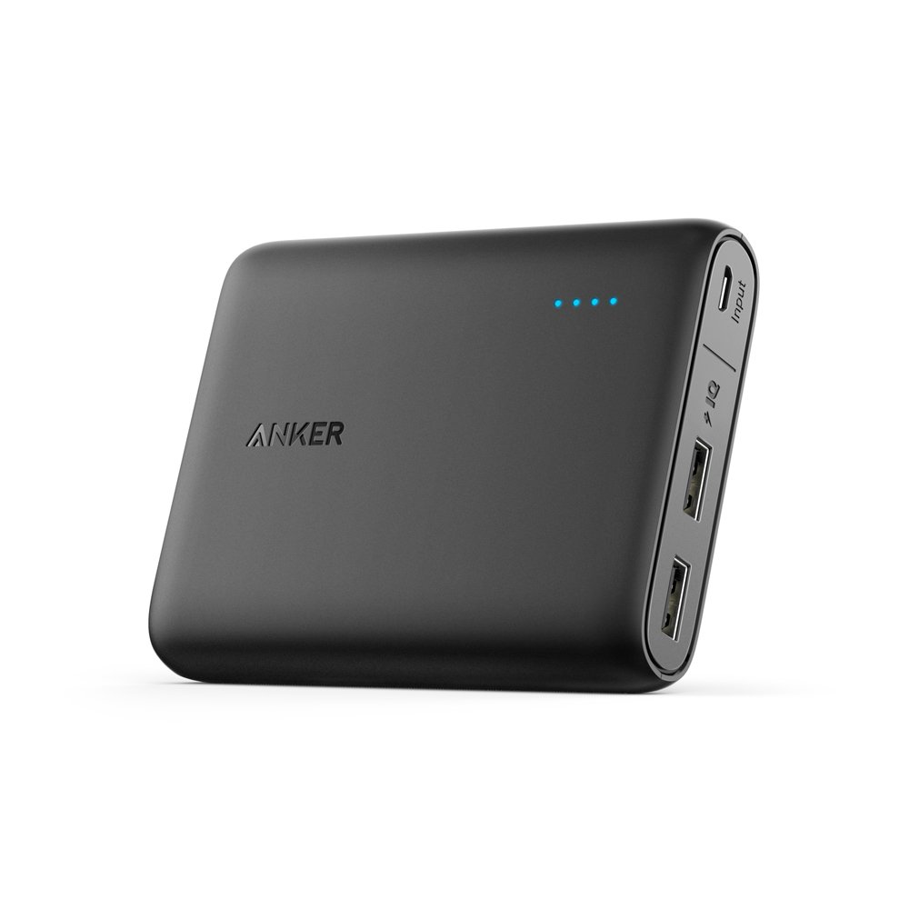 Anker PowerCore 10400mAh 2-Port Portable Charger/Power Bank with PowerIQ and VoltageBoost Technology for for iPhone, iPad, Samsung Galaxy (Black)