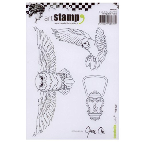 Carabelle Studio A6 Unmounted Stamp Set - Hiboux ()