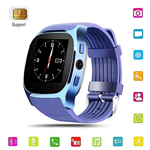 Tone Dialer Touch (Smart Watch for Android,Blueteeth Touchscreen Watch Cell Phone with Camera Sim Card Slot,Smart Wrist Watch,Smartwatch Phone for Men,Women,Kids (Blue 1))