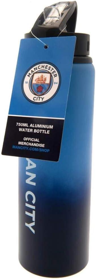 Manchester City FC Official Aluminium Sports Football Water Drinks Bottle XL