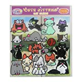 Cats and Kittens Flexible Gel Clings – Reusable Window Clings for Kids and Adults - Incredible Gel Decals of Kittens, Cats, Yarn, Mouse and More