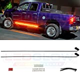 running board light strip - LEDGlow 2pc 70 Inch Amber Side Marker & Courtesy LED Running Board Lighting Kit - For Extended Cab & Crew Cab Trucks