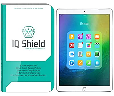 iPad Pro 10.5 Screen Protector (2017), IQ Shield Tempered Ballistic Glass / Case Friendly Screen Protector for iPad Pro 10.5 [9H Bubble-Free][Compatible with Apple Pencil] from IQ Shield