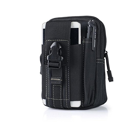 VANWEI Tactical Vest Pouch Backpack Utility Gadget Belt Waist Bag with Cell Phone Holster Holder for iPhone 7Plus 5.11 molle(Black)