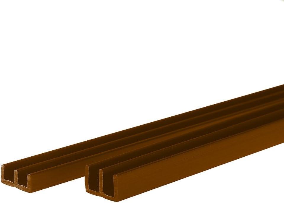 - Profil/és pour /épaisseur de Verre de 6 mm Montage en Bas et en Haut Longueur:150 cm Couleur:Noir id/éals pour Monter des terrariums PROHEIM Set profil/és avec Chemin Guidage pour vivariums de
