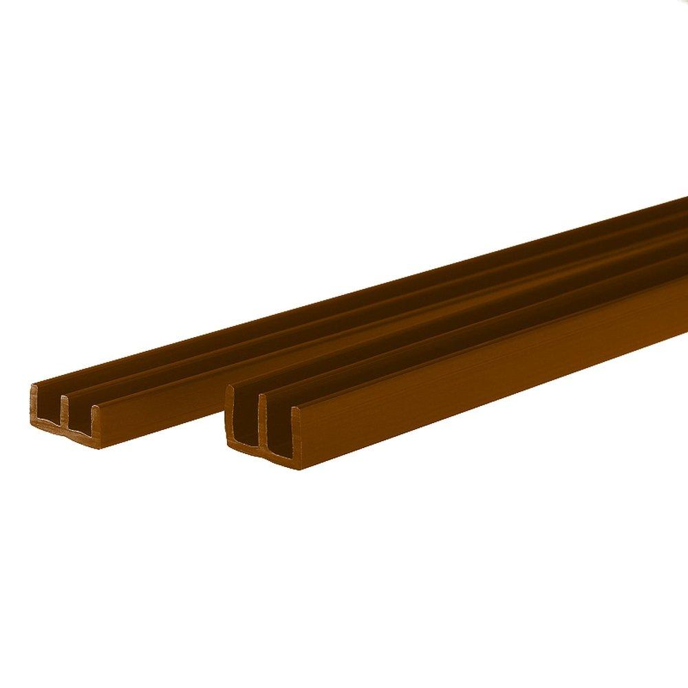 PROHEIM Set profilés avec Chemin Guidage pour terrariums de (Montage en Bas et en Haut) - Profilés pour épaisseur de Verre de 4 mm, idéals pour Monter des terrariums, Couleur:Marron, Longueur:50 cm