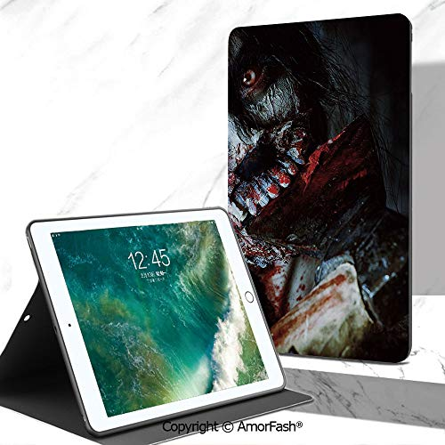 Zombie Decor Full Body Rugged Cover for Samsung Galaxy Tab A 7.0 Inch Tablet 2016 Release T280/T285,Scary Dead Woman with Bloody Axe Evil Fantasy Gothic Mystery Halloween Picture]()