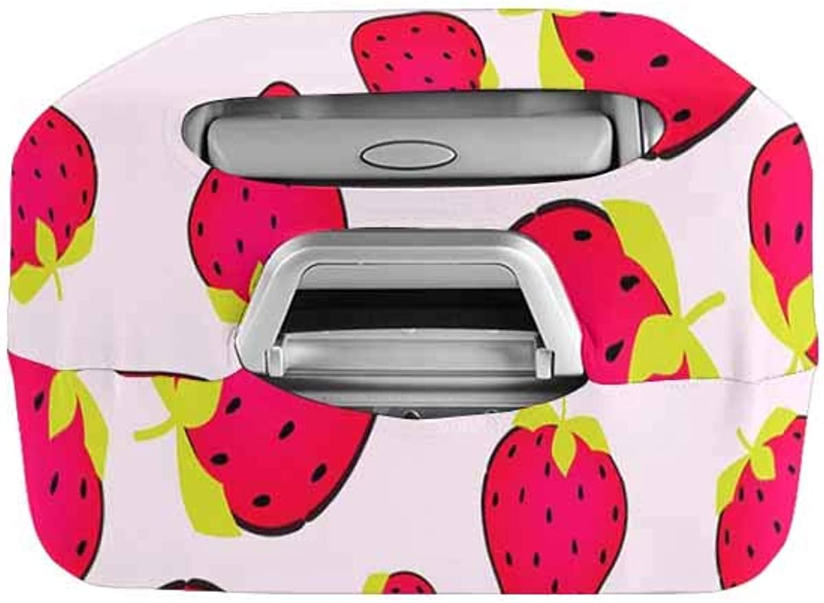 INTERESTPRINT Travel Luggage Protector Suitcase Covers Fit 18-28 Inch Luggage Cute Strawberry