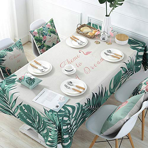 A15 140240cm JJHR Nappe Plante Flamingo Series Fresh Natural Nappe Table Nappe Table Serviette Couverture Couverture