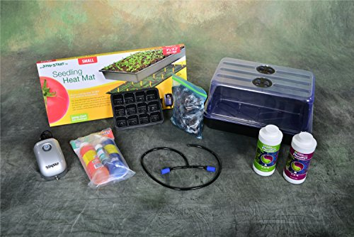 Level 4 Plant Propagation Cloning Kit: Humidity Dome, Tray, Inserts, heat mat, grow plugs and more! 15'' x 9'' x 8'' by Grow Box USA