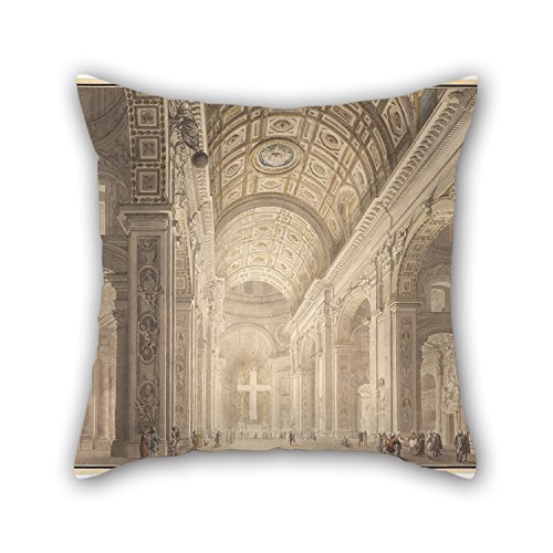 [The Oil Painting Francesco Panini - Interior Of St. Peter's Illuminated Cushion Covers Of ,20 X 20 Inches / 50 By 50 Cm Decoration,gift For Office,gf,teens,kids Boys,bedroom,home Theater (twin] (Butterfly Tween Costumes)