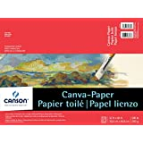 Canson Foundation Series Canva-Paper Pad Primed for Oil or Acrylic Paints, Top Bound, 136 Pound, 12 x 16 Inch, 10 Sheets