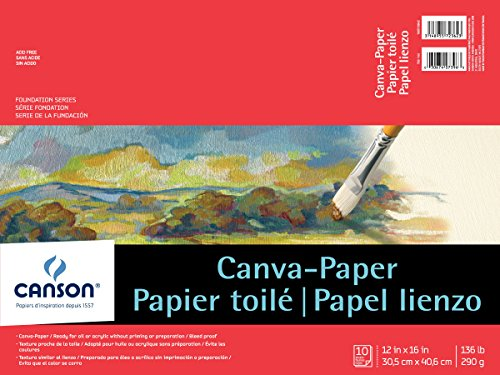Canson Foundation Series Canva-Paper Pad, 12