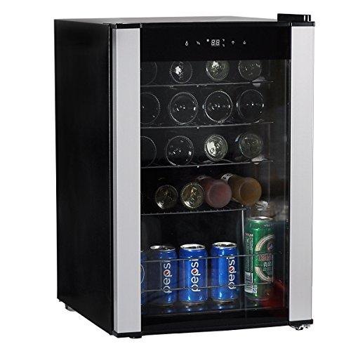 Smeta Under Counter Wine Beverage Cooler Refrigerator With Glass