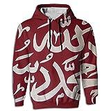Muslim Shahada Islam Novelty Classic 3D Graphic Hoodie Sweatshirt For Men Hoody