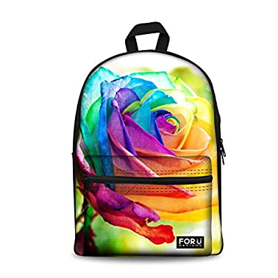 on sale FOR U DESIGNS Vintage Floral Cute Emoji Colorful Student School  Book Bag Laptop Backpack bd7bcfc95b2da