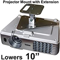 Projector-Gear Projector Ceiling Mount for EPSON PowerLite W29 with Extension Lowers 10