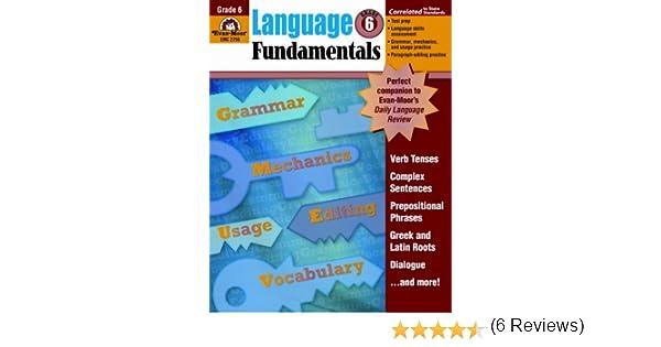 Language Fundamentals, Grade 6: Evan Moor: 9781596731660: Amazon ...