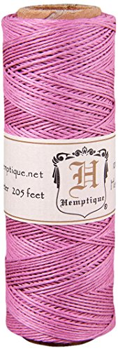 Hemptique Hemp Cord Spool, 10 lb, Light Pink