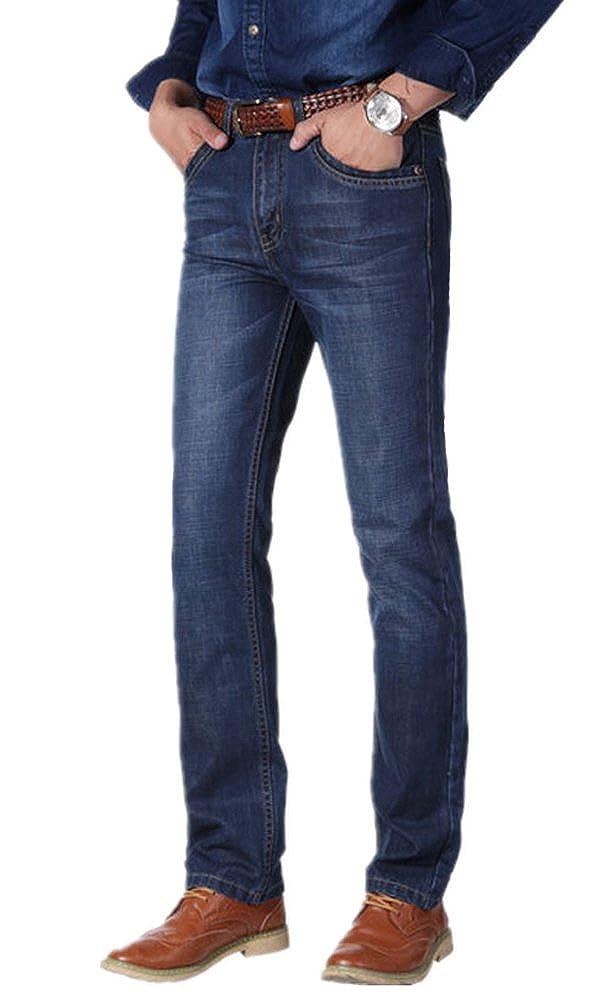 Port/&lotus Men Jeans with Zipper Slim Fit Casual