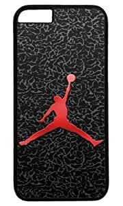icasepersonalized Personalized Protective Case for iPhone 6 - Michael Jordan, NBA Chicago Bulls #23 Black and White