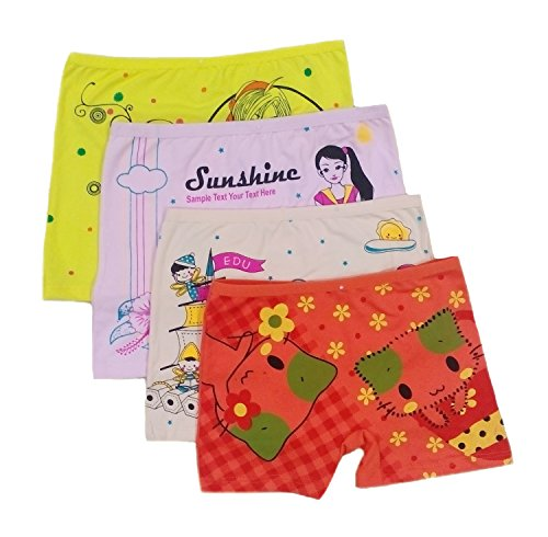 Ya Li Ya Girl Briefs,panties Underwear Assorted Color (6-7 years, 4Pack/Assorted)