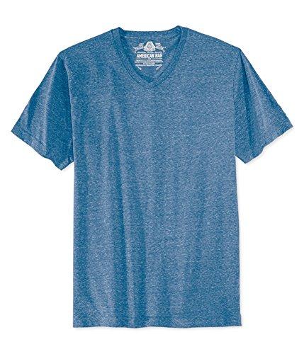 American Rag Mens Solid Basic T-Shirt Blue S