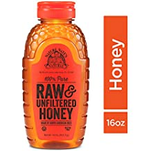Nature Nate's 100% Pure Raw & Unfiltered Honey; 16-oz. Squeeze Bottle; Certified Gluten Free and OU Kosher Certified; Enjoy Honey's Balanced Flavors, Wholesome Benefits and Sweet Natural Goodness.