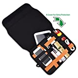 US Sense Electronics Organizer Case Bag, Travel Gear Management Organizer for Electronics Accessories Tools Cables Cosmetics Personal Care Kit with Sleeve Bag for iPad (Black)