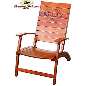 Amazon Com Tommy Bahama Folding Adirondack Chair Made Of