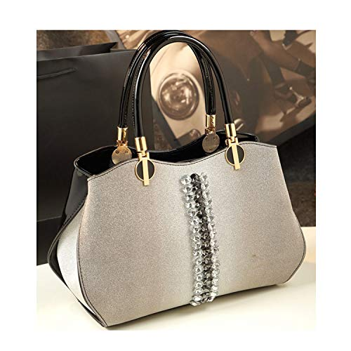- New designer women leather handbag diamond luxury evening clutch patent leather ladies office hand bag boston